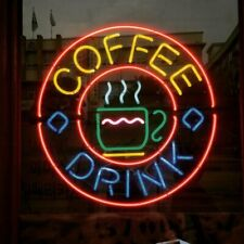 "New Coffee Cafe Drink Beer Bar Neon Light Sign 24""x20"""