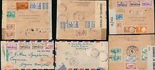 MARTINIQUE to FR.GUIANA 1941-45 REGISTERED CENSORED FdF + MORNE ROUGE 27 stamps
