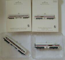 2 Hallmark Keepsake Lionel Trains - 2007 Freedom Train Locomotive & Sleeper