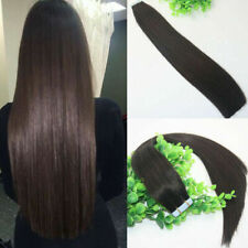 12A RUSSIAN TAPE IN HAIR 40PCS 100G COLOUR 1B NATURAL FAST SHIP SILKY STRAIGHT