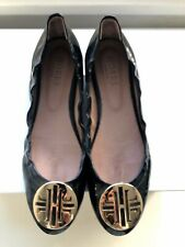 Hobbs Black Patent Flat Shoes with Buckle