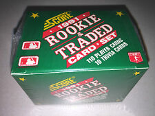 1991 SCORE ROOKIE & TRADED BASEBALL SET - FACTORY SEALED - 110 PLAYER CARDS