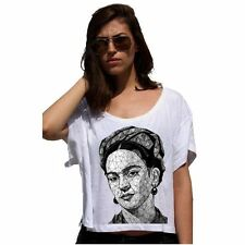 FRIDA KAHLO Geometric Lady 80'S Cotton Touch T-shirt Damen Crop Top