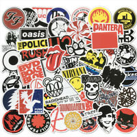 50Pcs Cool Rock Bands Artists Stickers Bomb For Skateboard Luggage Laptop Decals