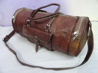 Leather Sports Gym Duffle Bag Travel Luggage Yoga Overnight Weekend Holdall 23""