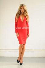 Acrylic V-Neck Midi Plus Size Dresses for Women
