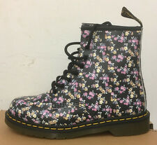 DR. MARTENS 1460  BLACK MINI TYDEE  LEATHER  BOOTS SIZE UK 6