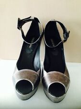 Pied A Terre Ladies Caspio Silver Leather Shoes BNIB RRP £165 Size 40