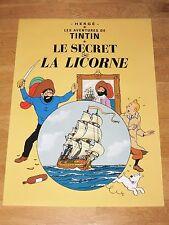TINTIN POSTER GROSS - LE SECRET LA LICORNE / EINHORN - 70 x 50 cm TIM & STRUPPI