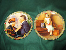 2 Norman Rockwell Collector Plates 1985 1987