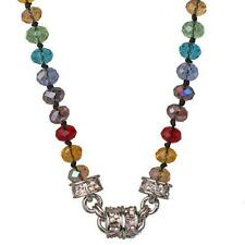 NEW KIRKS FOLLY TIMELESS RAINBOW  MAGNETIC INTERCHANGEABLE NECKLACE  SILVERTONE