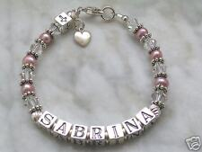 Sterling Silver crystal FIRST COMMUNION bracelet cross