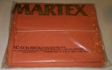 New Vintage Martex Percale Sheet Full Flat 54x75 Solid Apricot Orange 1970s Nos!