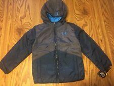Nwt Under Armour Boys Reversible Pronto Coat Jacket Size 6 Blue $75 Retail