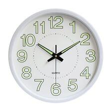 Analog Clock Non Ticking Wall Clock Night Light Home Decorative 30cm 12 inch