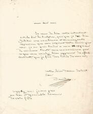 DAVID D'ANGERS /  Lettre autographe signée / L'étude de son Art.