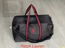 🆕Ralph Lauren Mens Polo Red Weekend Travel Overnight Gym Bag Black BRAND NEW