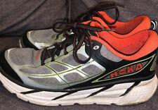 Hoka One One CLIFTON 2 Men's Running Shoes Gray Black Orange 1008328 Sz 10.5