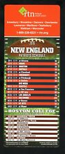 New England Patriots & Boston College Eagles--2016 Football Magnet Schedule--RTN