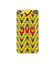 Arsenal FC Style Retro Kit Shirt Hard iPhone 5 SE 6 6s 7 8 X Phone Cover Case