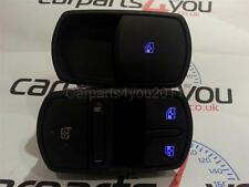VAUXHALL CORSA D BLUE LED ELECTRIC WINDOW SWITCHES / SWITCH SET + FREE UK POST