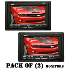 Pack of (2) Pyle PLVHR75 7-Inch High Resolution TFT Wide Screen Headrest Monitor