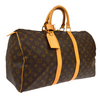 LOUIS VUITTON KEEPALL 45 TRAVEL HAND BAG FL0081 PURSE MONOGRAM M41428 AK38421e