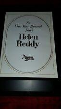Helen Reddy Midnight Special Rare Original Promo Ad Framed!