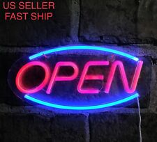 Led Neon Display Open Commercialbusiness Sign Shop Advertising Wall Lamp Open