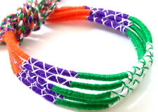 Lot 5 Bracelets Bresiliens de l'Amitié Macramé coton Friendship orange vert bleu