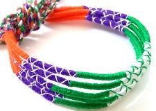 Lot 5 Bracelets Bresiliens de l'Amitié Macramé coton Friendship orange vert bleu
