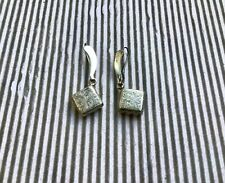 Antique Cowboy Western Engraved Etched 950 Sterling Earrings Mexico