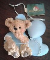 Christmas Ornament Kurt Adler Baby's First Christmas Blue Bear Boy