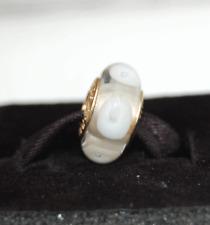 "Genuine Pandora Gold Murano ""White Calla"" - White Mystic - 750406 - retired"