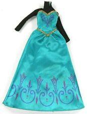 Barbie Vintage Disney Princess Gown Anna Frozen Teal & Black