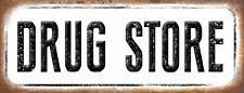 Drug Store Metal Sign, Medicine, Old School, Vintage, Retro