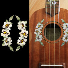 Ukulele Hibiscus Hawaiian Flowers Rosette Purfling Decorative Inlay Sticker JP
