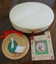 1985 Hallmark Ornament Country Goose Country Christmas Collection Mint In Box