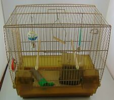 Vintage Budgie Cage And Accessories - Fer-Plast Italy