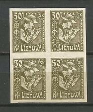 Lithuania Litauen 1921 MNH Mi 92 Sc 102 Sower issue imperforated 4block