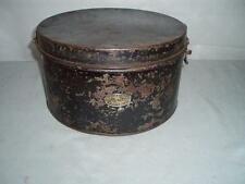 WW1 ANTIQUE MILITARY HAT LOCKABLE TIN CASE. By (BULPITT & Sons) 1915