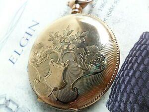 Vintage 1904 Elgin Grade 286 7 Jewel 6 Size 20 Year Hunter Case G/F Pocket Watch