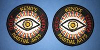2 Lot Vintage 1970's Keno's Karate Judo MMA Martial Arts Gi Uniform Patches 633