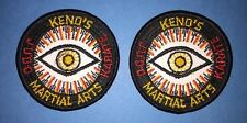 2 Lot Vintage 1970's Keno's Karate Judo Mma Martial Arts Gi Uniform Patches 633