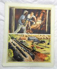 Cartel Original Vintage escuelas-la minería en Sudáfrica C 1920s/1930s