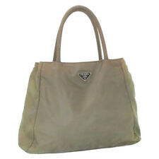PRADA Nylon Hand Bag Khaki Auth cr603