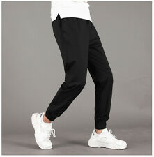 HQTN Summer Men's Sweatpants Jogging Track Pants Elastic Waist Trousers Solid