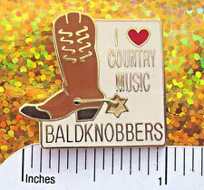 BALDKNOBBERS I love COUNTRY MUSIC - hat pin , tie tac , lapel pin GIFT BOXED