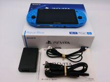 VG Sony PSVITA Console WiFi PCH2000 Aqua blue Fw3.70 w/8GB Japan F/S R18