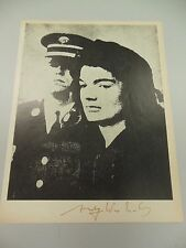 """ANDY WARHOL HAND SIGNED SPECIAL PRINT  """"JACKIE""""  JACKIE KENNEDY 1966 WITH COA"""